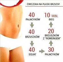 ćwiczenia na płaski brzuch.
