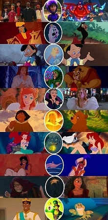 Disney characters and their transformations