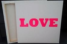 obraz LOVE fluo pink obraz ...