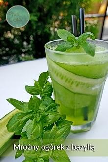 Nowy napój chłodzący o smaku mroźnego ogórka z bazylią :D Zapraszamy do Ptyś ...