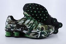 Green Camouflage Mens Nike Shox NZ Shoes 324XV27 2015