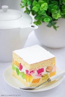 Lekkie ciasto na upalny weekend.  (Przepis po kliknięciu w zdjęcie)