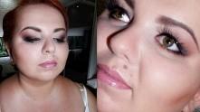Mój próbny makijaż ślubny. Zdjęcie dostałam od Pani która go wykonywała..
