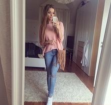 stylizacja spodnie jeansy