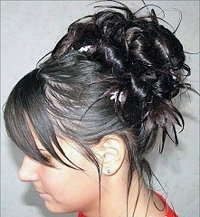 fryzura upięta