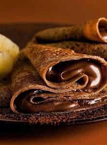 Naleśnik czekoladowe z nutellą