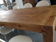 Stół z litego starego drewna