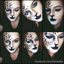 Mojej weny artystycznej ciąg dalszy :D Wymyśliłam sobie kocio-panterowaty makijaż i taki właśnie powstał, chociaż nie jest idealnie to myślę, że efekt jest zadowalający :D Takie...