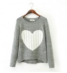 Przepiękny sweterek z sercem <3 Allegro 39 zł z wysyłką DWA KOLORY