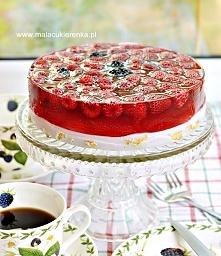 Łatwe ciasto na zimno z owocami. Przepis po kliknięciu w zdjęcie.