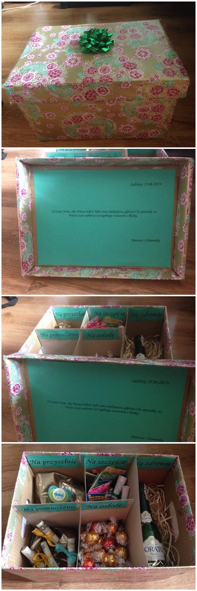 pomysł na prezent ślubny, własnoręcznie wykonany :)