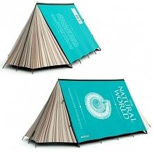 Coś dla miłośników książek. Namiot w kształcie książki :)