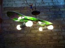 """Pomysł na """"skate"""" lampę."""
