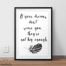 Kilka słów o marzeniach – darmowe grafiki do pobrania i wydrukowania.