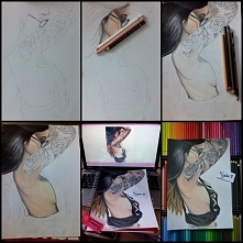 Tak to było krok po kroku :) Dziewczyna z tatuażem :)