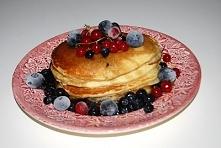 Pancakes placki z owocami