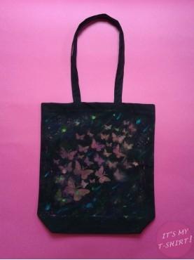 Czarna torba bawełniana, ekologiczna na zakupy - IT'S MY T-SHIRT!