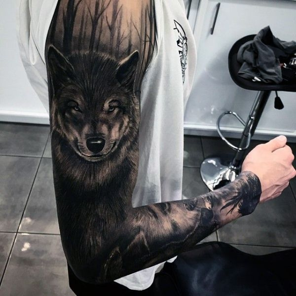 Rękaw Wilk Na Tatuaże Zszywkapl