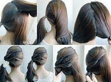 fryzura upięta na bok