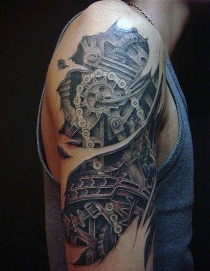 Tatuaż Biomechaniczny Na Ramie Na Tatuaże Zszywkapl