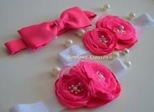 Opaska z kwiatem dla mamy i córci, a mucha dla taty :) więcej na fb anpage Bo...
