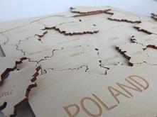Piękne drewniane puzzle edukacyjne Polska :) Grawerowane