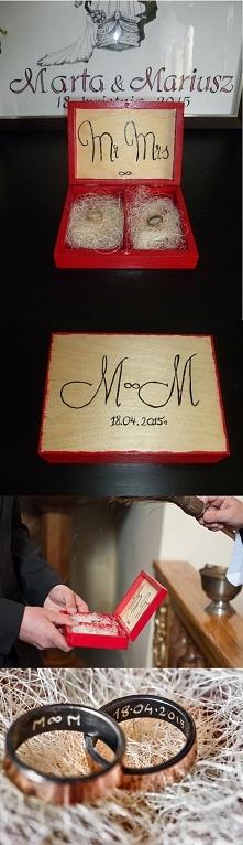 Ręcznie robione pudełeczko na obrączki.