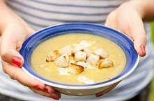Zupa z cukinii z fetą i grz...