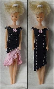 Sukienko-tunika dla Barbie