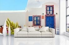Salon - fototapeta Santorini