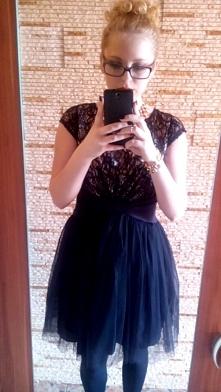 sukienka z tiulu i koronki