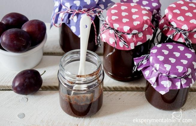 czekośliwka, czyli powidła śliwkowe z czekoladą, cynamonem i jabłkiem