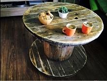 #szpula#beben kablowy#kawa#stol#drewno#eko#drugie zycie rzeczy