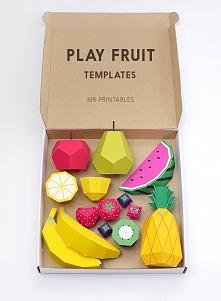 papierowe owoce (wzory do wydrukowania)