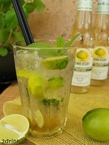 Mojito Elderflower Lime Składniki: ćwiartka limonki kilka listków mięty 2 łyż...