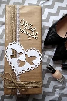Jak zapakować prezent ślubny DIY po kliknięciu w zdjęcie :)