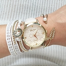 Zegarek Kobiecy Ażurowy Kremowy - 109 zł