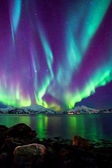 Zorza polarna, Norwegia.