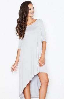 Figl M392 sukienka szara Niebanalna sukienka