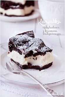 Karpatka czekoladowa z kremem budyniowym, najlepsza – przepis