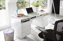 biurko SYNDY = lakierowane na wsyoki połysk