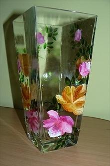 Ręcznie malowany wazon :)