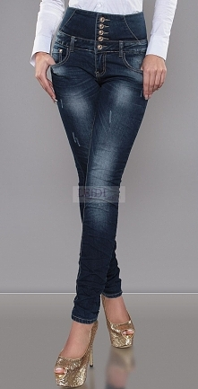 Jeansy z podwyższonym stanem