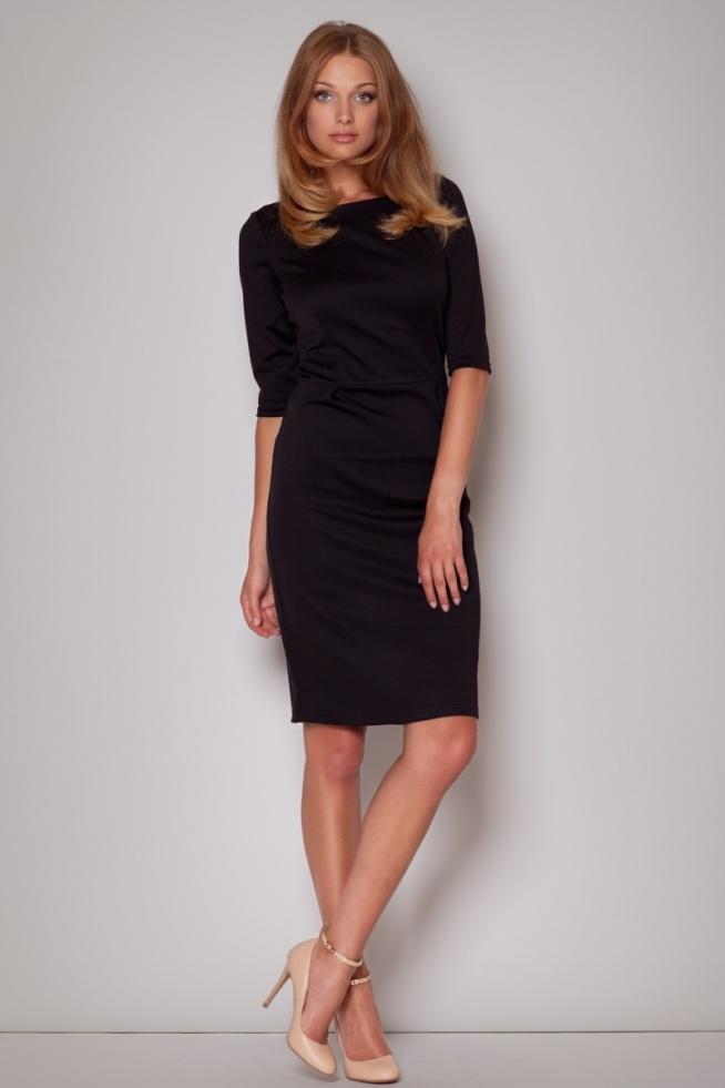 Czarna elegancka sukienka do kolan