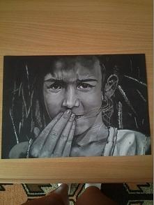 Kolejne z moich ostatnich prac :) Wzorowane zdjęciem, pastele na czarnym papi...