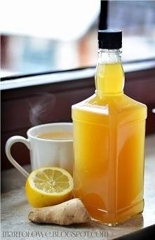 SYROP IMBIROWO-MIODOWY  - 2,5 szklanki wody - jeden spory korzeń imbiru - jedna duża cytryna  - szklanka miodu - ew 1/2 szklanki cukru jeśli ktoś lubi na słodko  Do garnuszka wl...