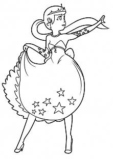 Kolorowanka dla dzieci - księżniczka (klik w zdjęcie, aby pobrać pdf)