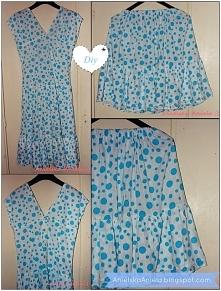 podziel na dwa z sukienki spódniczka i bluzka diy