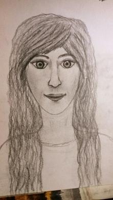 To jest rysunek mojej przyjaciółki, która zaczyna przygodę z rysowaniem ludzi...