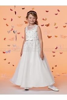Sweet Beginnings by Jordan Flower Girl Dress Style L683 - NEW!ivory lace flow...